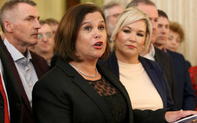 Irish republican Sinn Fein party leader Mary Lou McDonald.