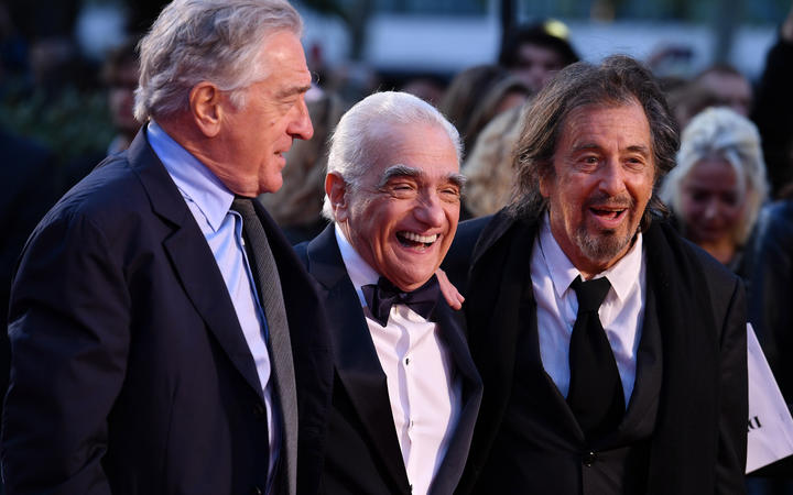 Al Pacino,Martin Scorsese and US actor Robert De Niro attend the international premiere of Academy Award-nominated film The Irishman.