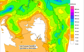 Rain forecast for Australia is being welcomed by the Rural Fire Service.