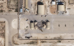 Satellite image released by Planet Labs Inc. reportedly shows damage to the Ain al-Asad US airbase in western Iraq, after being hit by rockets from Iran.