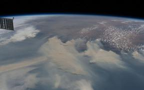 Bushfire smoke as seen from the International Space Station.