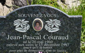 Grave of Jean-Pascal Couraud in Punaauia, Tahiti