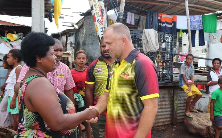 PNG Hunters coach Matt Church