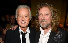 Led Zeppelin's Jimmy Page, left, and Robert Plant
