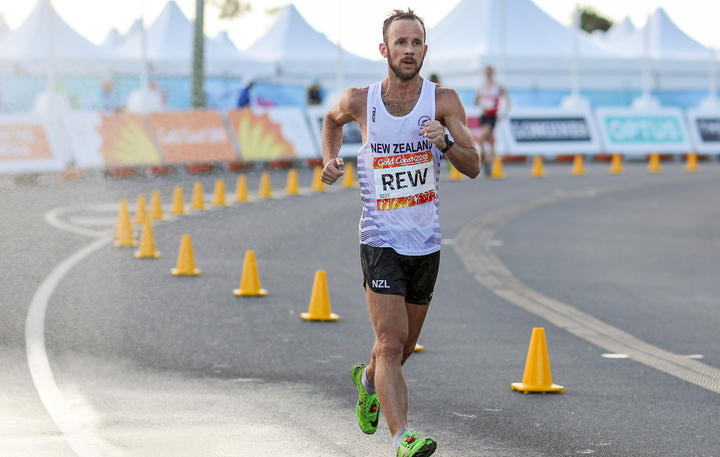 Quentin Rew in the means 20km race walk