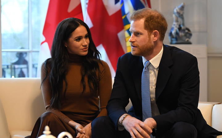 Prince Harry and Meghan during their visit to Canada House in London on 7 January, 2020.