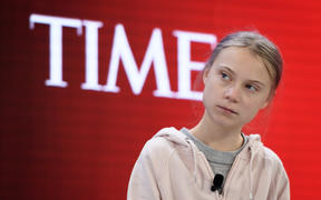 Swedish climate activist Greta Thunberg attends a session at the Congress center during the World Economic Forum (WEF) annual meeting in Davos, on January 21, 2020.