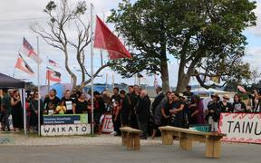 People have gathered at Ihumātao to welcome Kiingi Tūheitia.