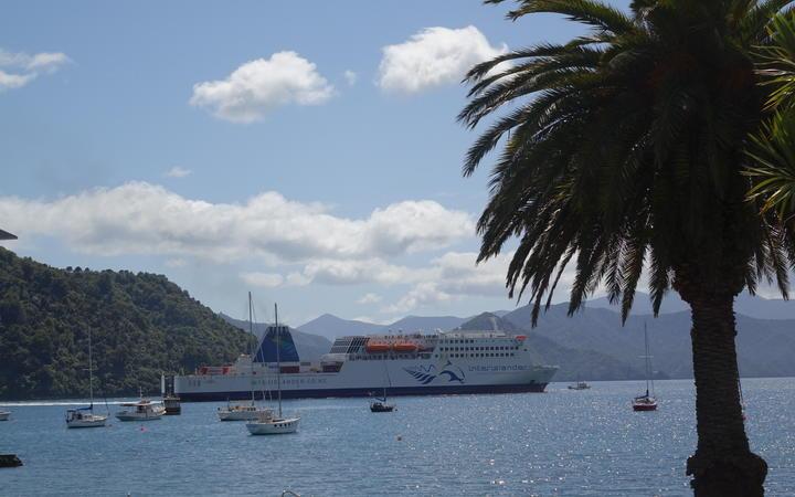 The Interislander Ferry at Picton.