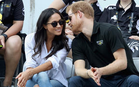 Prince Harry and Meghan attend a Wheelchair Tennis match during the Invictus Games 2017 on September 25, 2017 in Toronto, Canada.