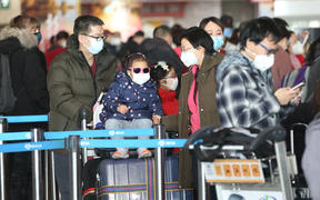 People at Beijing Airport, nurses in Auckland and Christchurch are ready to test any unwell passengers arriving from China.