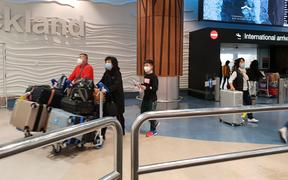 Visitors from China arrive at Auckland Airport. 27.1.2020