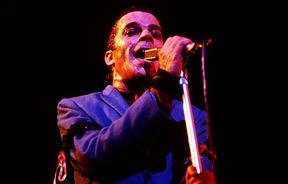 Ian Dury at the Roundhouse, Chalk Farm, London, 1978