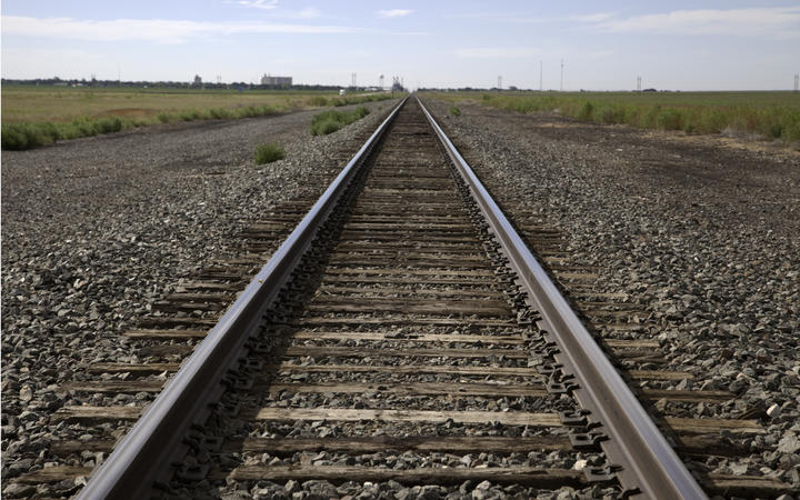 Railroad tracks. Railway tracks. generic