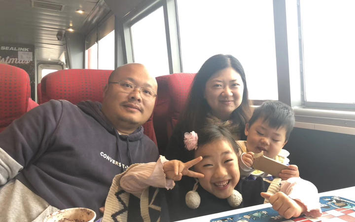 Anna An and husband George Shuai, daughter Rachel and son Jacob.