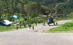 Indonesian military forces conduct operations in Intan Jaya, Papua province.