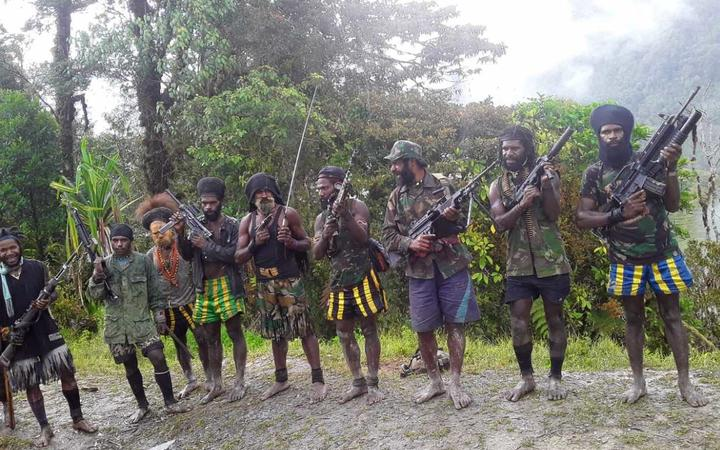 West Papua Liberation Army fighters in Nduga regency.
