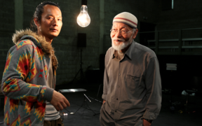 Japanese sound artists Akio Suzuki and Aki Onda