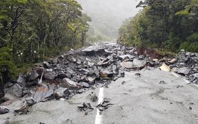 Milford Rd State Highway 94 is expected to be blocked for several days because of flooding and slips.
