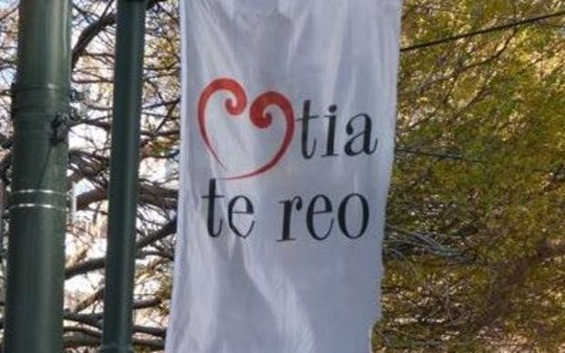 'Love the language' flags are flying in Wellington / Te Whanganui-a-Tara.
