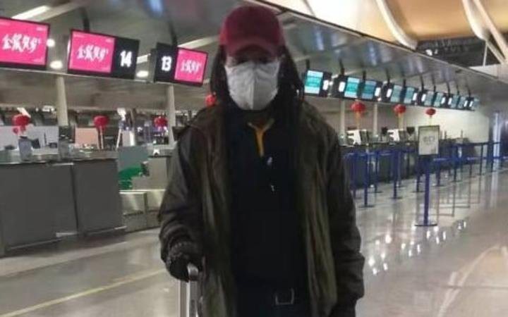 Ben Mendel at Shanghai airport.