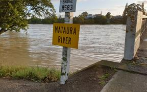 The Mataura River in Gore, right by the bridge.