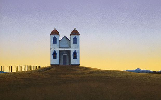 Steve Harris' painting of a Ratana Church went for $24,000