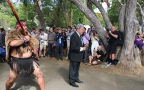 Foreign Affairs Minister Winston Peters at Waitangi 4 February
