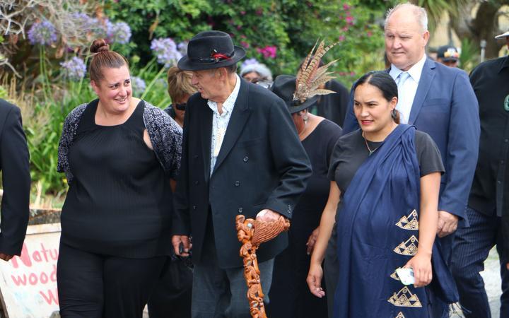 Qiane Matata-Sipu, Kiingi Tūheitia and Pania Newton.