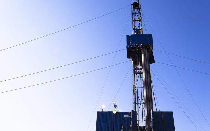 Oil and Gas Drilling Rig onshore (stock photo)