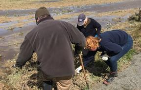 Locals volunteering with Southland Federated Farmers to help farmers in the aftermath of flooding across the region.