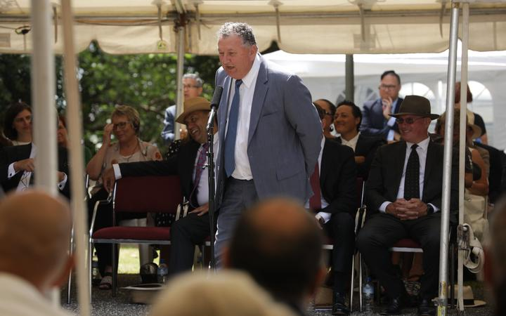 Shane Jones speaks at Waitangi,4 February