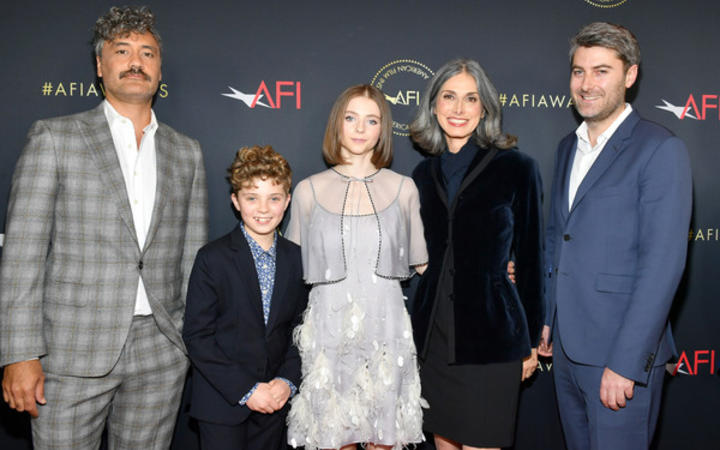 Taika Waititi, Christine Leunens, Carthew Neal, Roman Griffin Davis and Thomasin McKenzie