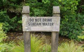 A sign at Otari Wilton's Bush, Wellington