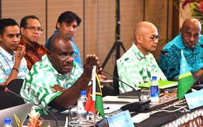 Delegates at the Melanesian Spearhead Group meeting in Fiji.