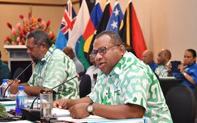 Fiji Foreign Affairs Minister Inia Seruiratu addresses the meeting.
