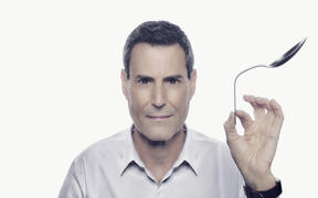 Spoon-bending celebrity psychic Uri Geller.