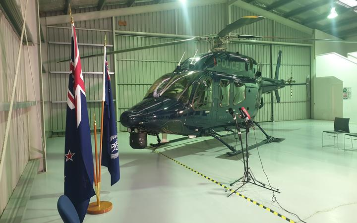 The police eagle helicopter.
