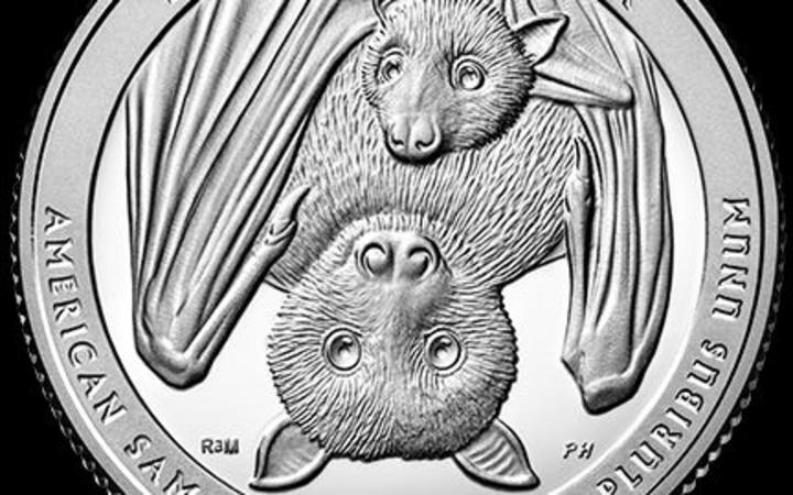 The new US coin with an image of a Samoan fruit bat.