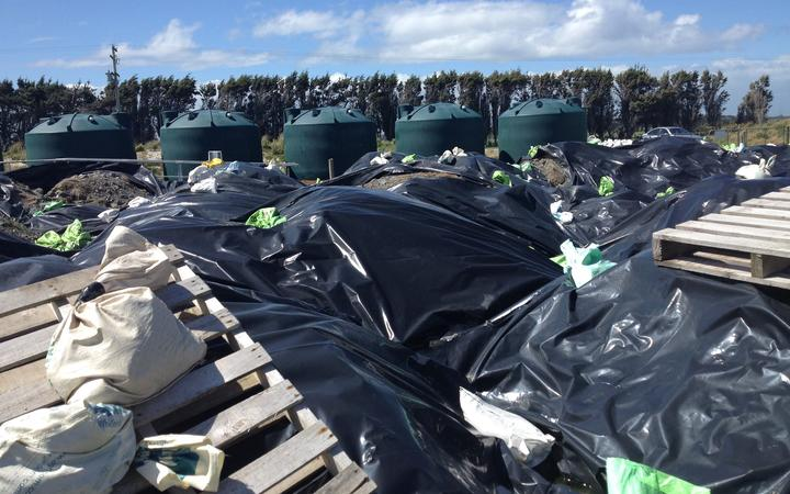 Ouvea premix - or dross - is stored in loose bags around Southland.