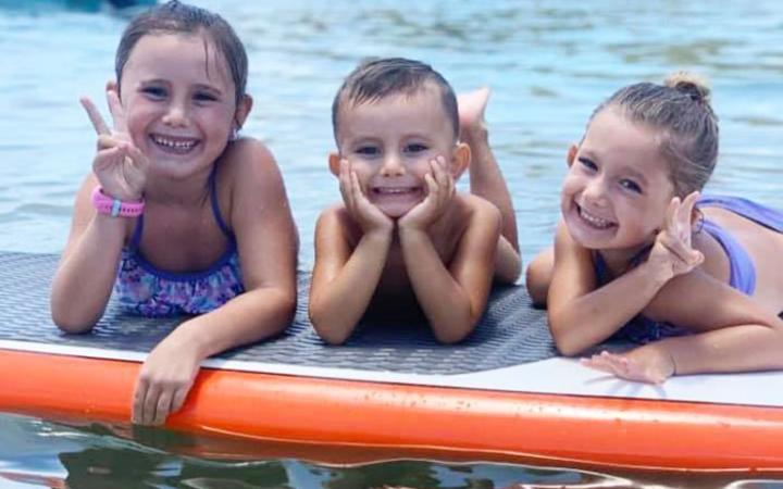 The three children of Hannah and Rowan Baxter, Lainah, 6, Trey, 3, and Aaliyah, 4.