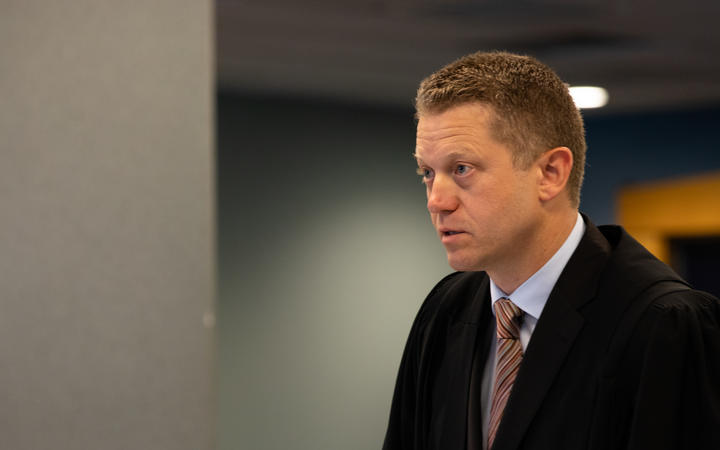 The defendant's lawyer Ian Brookie at the sentencing.
