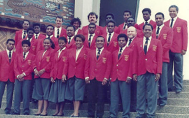 PNG team at the 1992 Barcelona Olympic Games.
