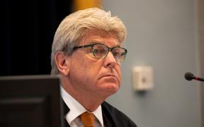 Justice Simon Moore  at the sentencing of the man convicted of murdering Grace Millane, 21 February 2020