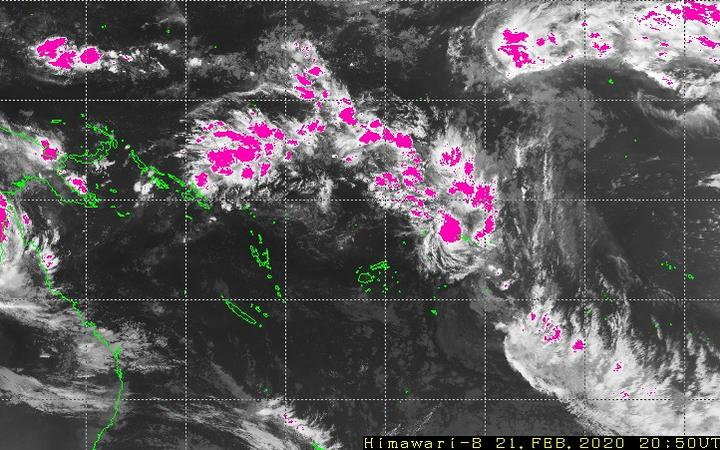 satellite image of the Pacific current weather