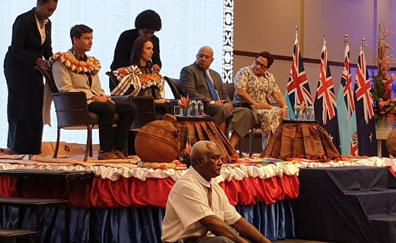 Prime Minister Jacinda Ardern is in Fiji on the first visit to Fiji by a New Zealand prime minister since 2016.