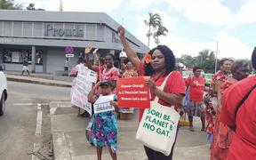 Pacific women take to the streets to be heard.