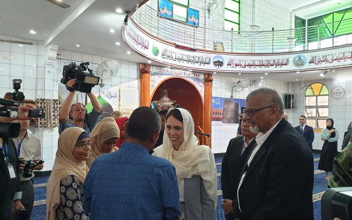Ardern meets the family of the Fijian men who died in the mosque attack.