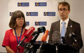 Tues 4th February.  Ministry of Health press conference with Dr Ashley Bloomfield and Dr Caroline McElnay