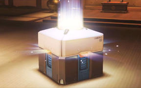 Loot box from the game Overwatch
